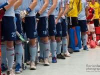 UHC-Spieler beim Spielen der Nationalhymne