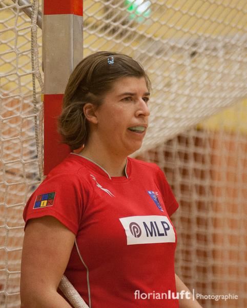 Rekordnationalspielerin und Fahnenträgerin von London 2012 Natascha Keller (Berliner HC) im Viertelfinale um die Deutsche Meisterschaft im Hallenhockey zwischen dem Berliner HC und dem Mannheimer HC, welchers der BHC mit 7:3 gewonnen hat.
