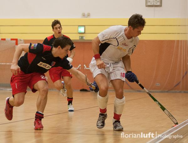 Pilt Arnold (li., BHC) und Tobias Blasber (re., TSV Mannheim)