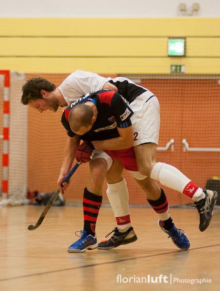 Richard Braun (unten, BHC) und Lukas Goerdt (oben, TSV Mannheim)