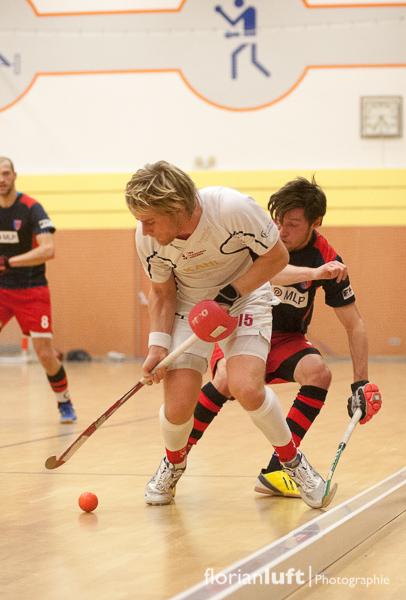 Carsten Müller (li., TSV Mannheim) und Martin Zwicker (re., BHC)