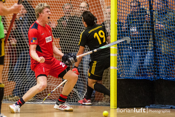 Jonas Diesing (BHC) freut sich über einen seiner zahlreichen Treffer.